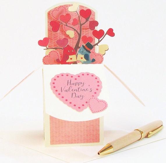 3D Valentines Day Card Valentines Gift Idea Valentines Day