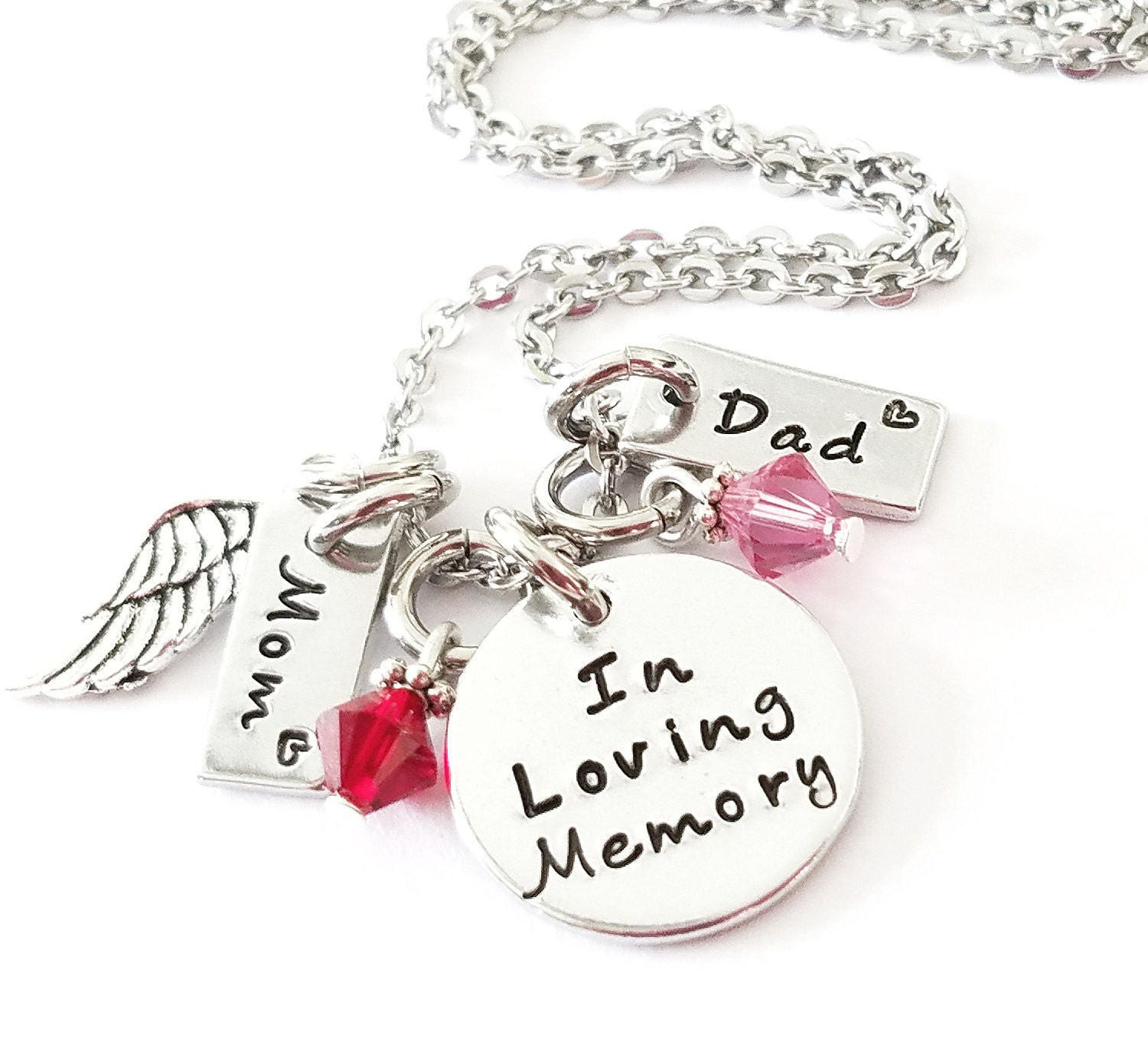 in loving memory jewelry memorial necklace in loving memory of personalized 9664