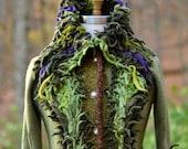Custom sweater Coat for MB. Woodland style bespoke clothing- OOAK fantasy eco outerwear