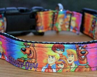 Scooby doo tie dye dog collar