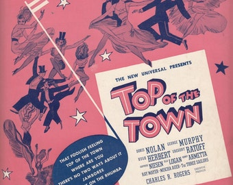 Where Are You? 1936 Sheet Music Top of the Town Harold Adamson Jimmy McHugh
