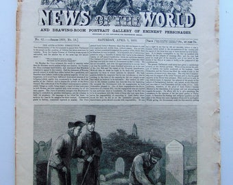 1859 Illustrated News Of The World