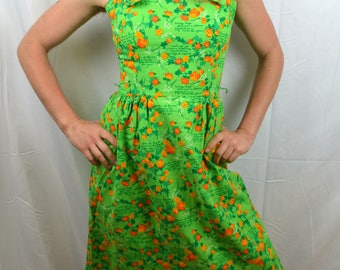 Vintage 1960s Malia Honolulu Hawaiian Summer Dress