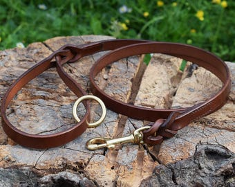 1 m Braided Leather Dog Leash - Size M