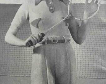 Patron en tricot des années 30