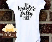 Baby Onesie/Bodysuit/ Baby gift/ Baby shower/Infant/Baby Clothing /JW/Wonderfully Made/Ministry clothes/ Coming Home Outfit