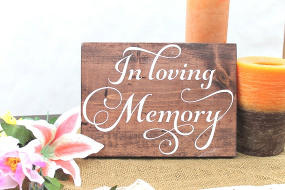 In Loving Memory, Wedding Signs Wood, Memory Sign, Wood Sign, Rustic