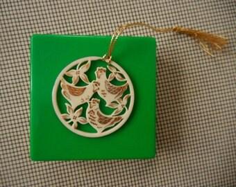 Third Turtle Doves Christmas Lenox Christmas Ornament