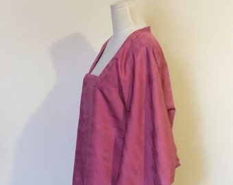 Vintage KIMONO jacket MICHIYUKI rose pink Medium size ready to ship