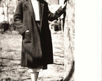 Knitting Pattern Vintage - Download womens coat