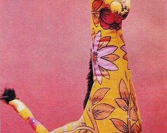 Sewing Pattern - Josephine Giraffe Soft Toy Stuffed cloth Animal PDF download
