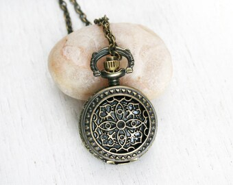 Pocket Watch Necklace / Clock Necklace (10 styles to choose)
