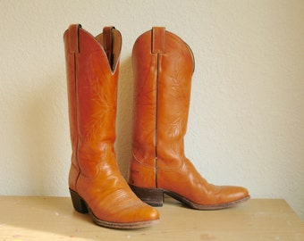 Womens Size 7.5... Tall Justin Cowgirl Boots...Western Boots... Hot Time in the Old Town