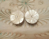 Mother of Pearl Flower Plugs Gauges 7/8ths 22mm, 3/4ths 19mm p786