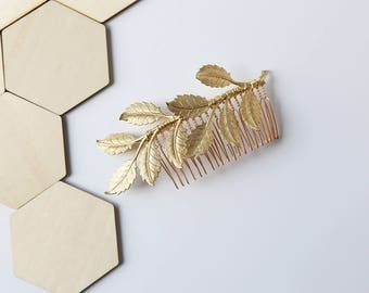 Oversized Leaf Comb, Gold, Rose Gold, Silver - Bridal Boho Comb, crown, halo, Wedding Hair Accessory, headpiece, clip, barrette, under 50