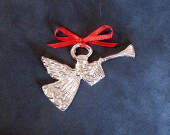 Pewter Angel Gabriel Ornament