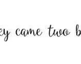And they came two by two Vinyl Wall Decal