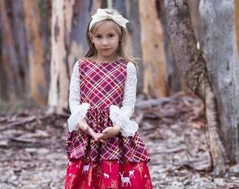 Dress Sewing Pattern, PDF Pattern, Girls Sewing Pattern, Birthday Dress, Holiday Dress, Ruffle Dress Pattern, Heart of Gold Dress