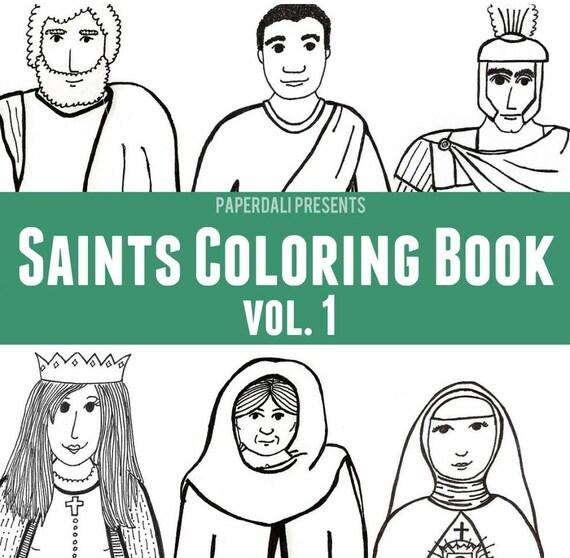 Catholic Saints Coloring Book Vol 1