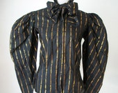 Silk large shoulder button up with neck bow - The Silk Farm designed by ICINOO