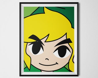 Link, Legend of Zelda, Link Zelda, Link Poster, Video Game Art, Legend of Zelda Poster, Zelda Print, Video Game Decor, Gaming Poster