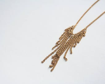 Brass Chain Necklace, Brass Jewelry, Layering Necklace