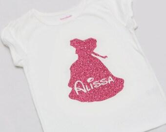 Magical Princess Glitter Shirt -Personalized - Sleeping Princess - Pink Glitter