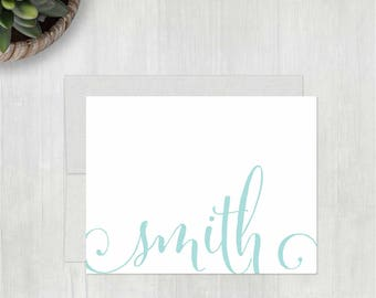 Personalized Thank You Notecards • Whimsy Script {FOLDED} • 10 Note Cards with Envelopes • Personalized Stationery • Personalized Stationary