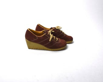Reddish Brown Wedge Shoes by ARMADILLOS, Size 6 1/2