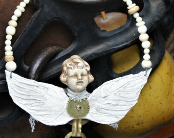 Angel Girl - Assemblage Art Ornament/Home Decor - OOAK - Hand Made