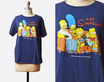 Vintage 90s The Simpsons Shirt Bart Simpson Shirt Family Portrait Graphic TShirt Cartoon 1990s Retro Tv Show Vintage T Shirt Medium Large