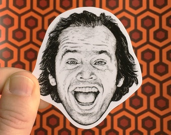The Shining Jack Torrance Vinyl Laptop Sticker | Phone Decal