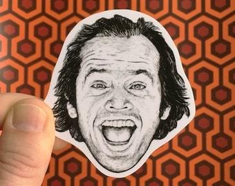 The Shining Jack Torrance Vinyl Laptop Sticker | Car Decal | Phone Sticker