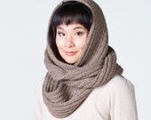 Special Order for Renée - Oversized Infinity Scarf in Beige-Ash