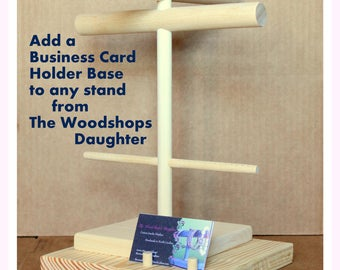 Business Card Holder Base for Any Stand by The Woodshops Daughter - Add on item - Customization