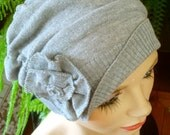 womens hat soft hat chemo hat chemo headwear pale grey beanie chemo gift lightweight summer
