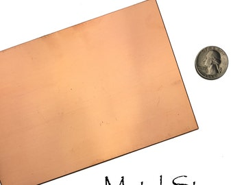 "Copper Sheet - 20 gauge - 4"" x 6"" (NEW Lower Price)"