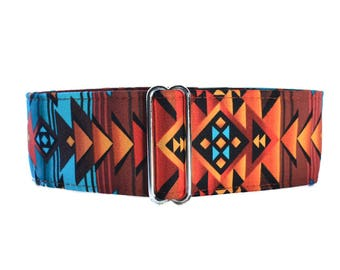 Tribal Martingale Collar, Wide Dog Collar, Aztec Martingale Collar, Southwest Martingale, Aztec Dog Collar, Aztec Dog Collar,