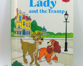 Lady and the Tramp, Walt Disney Book Club Edition, Childrens Vintage Disney Dog Book, Young Readers Storybook, First American Edition 1981
