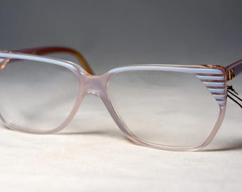 Vintage France 1980's Eyeglass Frames, New Old Stock, Diane De Carlo, Blue