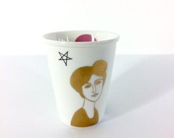 Mug printed with Belle Dame Jeanne