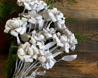 The Princess Bride Book Paper Flowers - Romantic Paper Roses Made From Book Pages