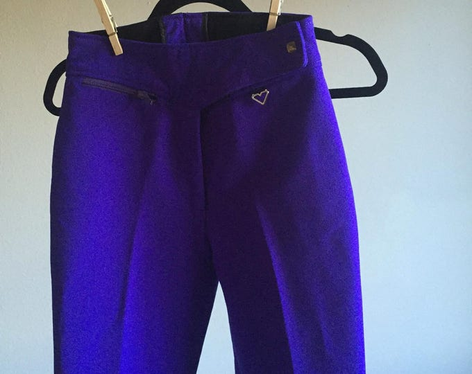 indigo neoprene high waist stretch stirrups RIDER PANTS 90s club kid vintage hipster high fashion womens bottoms extra small 5 6 7 25 26