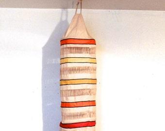 vintage hanging lantern - 1960s Indonesian woven hanging lamp