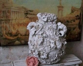 "Ancient Roman Amphora Urn Miniature 1:12 Dollhouse or 1,6 Playscale, Terra Cotta Archeology Sea Treasure, Corroded Vase 2 1/4x1.3/4 "" #A101"