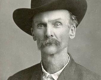Portrait of WESTERN GENTLEMAN In His COWBOY Hat Photo Humboldt Nebraska circa 1905