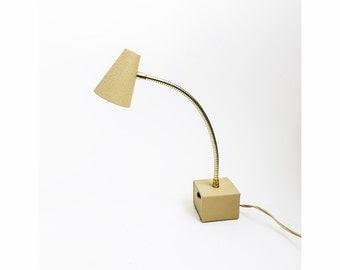 Vintage White Gooseneck Desk Lamp