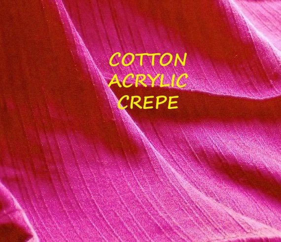 1 YARD, Cranberry Crepe, Fashion or Craft Fabric, Lightweight Acrylic Cotton, B12