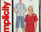 Easy to Sew Boys and Girls Top and Cropped Pants sizes 7 8 10 12 14 16 Simplicity Pattern 5991 UNCUT