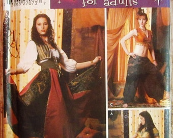 Misses Belly Dance or Genie Costume Sizes 6 8 10 12 Andrea Schewe Simplicity Pattern 5359 UNCUT